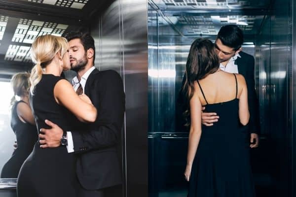 How to give the blowjob in the elevator? 2